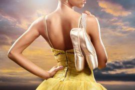 Ballerina in body giallo e scarpe da punta danzashop