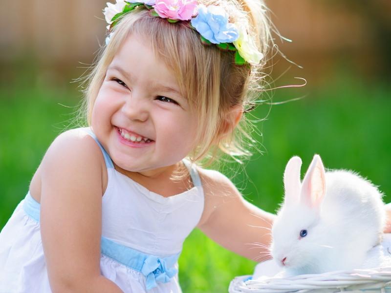 perle di saggezza bambina-coniglio